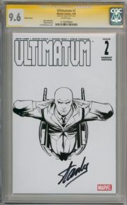 Ultimatum #2 Professor Xavier Sketch Variant CGC 9.6 Signature Series signed Stan Lee Marvel comic